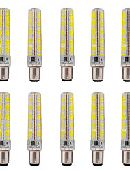 BA15D LED Corn Lights T 136 SMD 5730 1200-1400 lm Warm White Cold White 2800-3200/6000-6500 K Dimmable Decorative AC 110/220 V