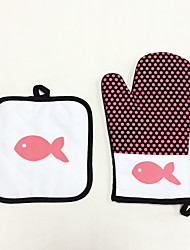 cheap -2 Pieces Pot Holder & Oven Mitt For Cooking Utensils / Bread / Cake / Pie / Pizza FabricHeat-insulated / Eco-Friendly / High Quality / Cotton