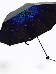 cheap -Plastic Men's / Women's / Girls' Sun umbrella Folding Umbrella