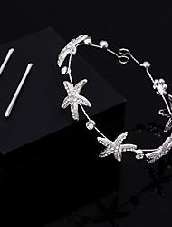 preiswerte -Chiffon Krystall Künstliche Perle Spitze Kopfkette Haar-Werkzeug Kopfschmuck