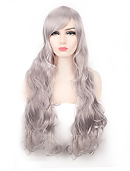 Sliver Grey Body Wave Natural Looking Popular Heat Resistant Synthetic Wigs for European and American Ladies Fashion Wearing Hair