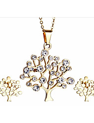 Kalen®Graceful Female Jewelry Sets Stainless Steel 18K Italian Gold Plated Tree of Life Pendant Necklace  Supplier
