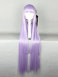 cheap -Charming Synthetic Long Straight Purple Anime Dangan Ronpa Kyouko Kirigiri Cosplay Wigs   Light Purple Braid