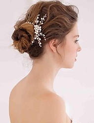 Women's Pearl / Crystal Headpiece-Wedding / Special Occasion / Casual Headbands / Hair Combs / Flowers / Wreaths / Head Chain / Hair Tool