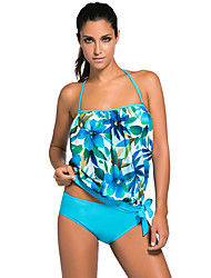 cheap -Women's Lace Overly 2pcs Bandeau Tankini Swimsuit