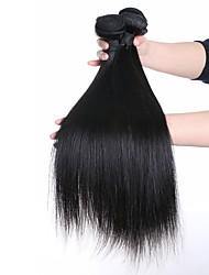 billige -3 Bundler Brasiliansk hår Lige Menneskehår, Bølget Menneskehår Vævninger Menneskehår Extensions / Ret