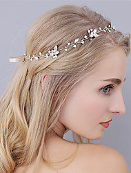 abordables -Strass Bandeaux Coiffure with Fleur 1pc Mariage Occasion spéciale Casque