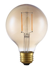 E26 LED Filament Bulbs G80 2 COB 180 lm Amber 2200 K Dimmable AC 110-130 V