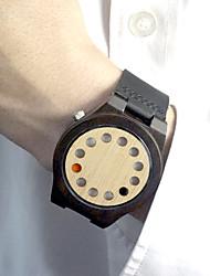 economico -Per uomo Creativo unico orologio Orologio Legno Orologio sportivo Orologio alla moda Quarzo Quarzo giapponese / Pelle Banda Lusso Vintage