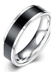cheap -Men's Ring - Stainless Steel European, Fashion, Elegant 7 / 8 / 9 Black For Wedding / Party / Daily