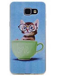 preiswerte -Hülle Für Samsung Galaxy A5(2017) / A3(2017) Muster Rückseite Katze Weich TPU für A3 (2017) / A5 (2017) / A5(2016)