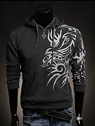 cheap -Men's Long Sleeves Hoodie Print