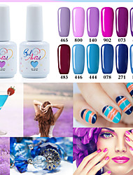 cheap -fashing purple color blue color uv led lamp gel polish color gel nail gel nail polish