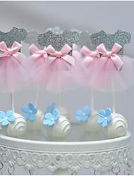 Pink Princess Shawl Cake Top