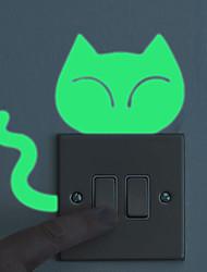 cheap -Animals Fashion Cartoon Wall Stickers Plane Wall Stickers Luminous Wall Stickers Decorative Wall Stickers Light Switch Stickers Home