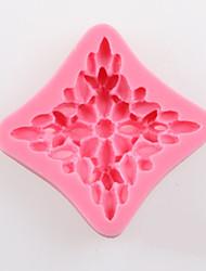 um bakeware moldes flor quadrado fondant bolo de chocolate de silicone, ferramentas de decoração