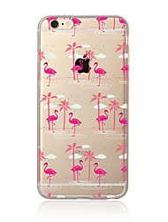 billige -Etui Til Apple iPhone X iPhone 8 Plus iPhone 7 iPhone 6 iPhone 5 etui Gennemsigtig Mønster Bagcover Flamingo Blødt TPU for iPhone X