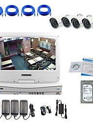 Strongshine® IP Camera with 720P/Infrared/Water-proof And NVR with 10.1Inch LCD/2TB Surveillance HDD Combo Kits