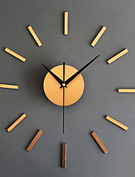 DIY Modern/Contemporary Metal Fashion Creative Round Wall Clock