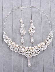 cheap -Women's Imitation Pearl / Rhinestone Jewelry Set - Include Silver For Wedding