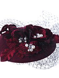 New Graceful Grenadine Flower Hat