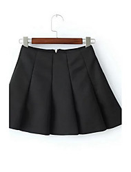 Women's Casual/Daily Mini Skirts,Sexy Simple Swing Pleated Solid Fall Winter