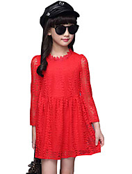 Girl's Casual/Daily Formal Solid Dress Spring Fall Long Sleeve