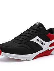 Men's Sneakers Running Light Soles Tulle Summer Fall Athletic Outdoor Low Heel Navy Blue Black/Red Royal Blue Under 1in