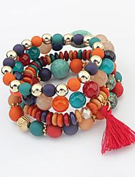 cheap -Women's Charm Bracelet Strand Bracelet Tassel Fashion European Acrylic Alloy Jewelry Daily Costume Jewelry