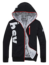 Men's Daily Sports Going out Simple Casual Spring Fall Jackets,Letter Hooded Long Sleeve Regular