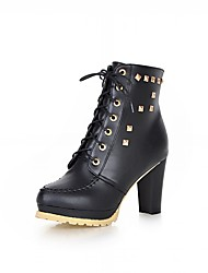 Women's Boots Spring Fall Winter Platform Comfort Novelty Leatherette Patent Leather Wedding Office & Career Dress Casual Party & Evening