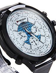 Men's Military Watch Dress Watch Fashion Watch Wrist watch Quartz Punk Colorful Large Dial Stainless Steel BandVintage Cartoon Cool