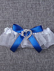 cheap -Organza Wedding Garter with Bowknot