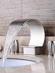 cheap -Separated Type Nickel Brushed Bathroom Luxury Waterfall Hot / Cold Faucet