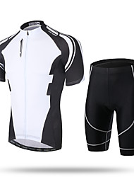 cheap -XINTOWN Cycling Jersey with Shorts Men's Short Sleeves Bike Padded Shorts/Chamois Shorts Pants / Trousers Zip Top Jersey Top Clothing