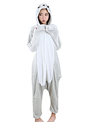 cheap -Kigurumi Pajamas Sea Lion Lion Onesie Pajamas Costume Velvet Mink Silver Cosplay For Adults' Animal Sleepwear Cartoon Halloween Festival