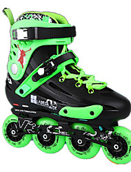 Adults' Inline Skates Anti-Slip Cushioning Adjustable Black/Purple/Green