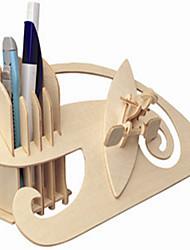 Quebra-cabeças Quebra-Cabeças de Madeira Blocos de construção DIY Brinquedos Esfera 1 Madeira Ivory Modelo e Blocos de Construção