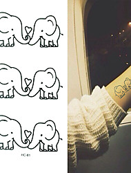Tattoo Stickers Animal Series Cartoon Baby Child Women Men Flash Tattoo Temporary Tattoos