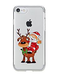 Für iPhone X iPhone 8 iPhone 7 iPhone 6 iPhone 5 Hülle Hüllen Cover Transparent Muster Rückseitenabdeckung Hülle Weihnachten Weich TPU für
