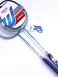 Badminton Rackets Nondeformable Durable Aluminium Alloy One Pair for Indoor Outdoor Performance Practise Leisure Sports
