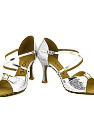preiswerte -Damen Schuhe für den lateinamerikanischen Tanz / Salsa Tanzschuhe Glitzer / Kunstleder Sandalen / Absätze Leistung / Professionell Strass