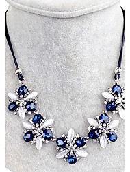 Women's Collar Necklace Crystal Rhinestone Flower Rhinestone Flower Style Flowers Floral Jewelry For Wedding Party Daily