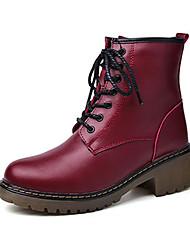 Masculino-Botas-Conforto-Rasteiro-Preto Vermelho-Couro Ecológico-Casual