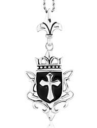 Недорогие -мужской стиль панк кулон ожерелье шарма нержавеющей стали 316l ювелирных изделий ретро крест резьба форма