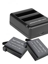 billige -Batterioplader batteri Til Action Kamera Gopro 4 Silver Gopro 4 Session Universel Rejse