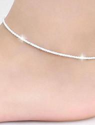 abordables -Bracelet de cheville - Femme Argent Style Simple Bracelet de cheville Pour Quotidien / Décontracté