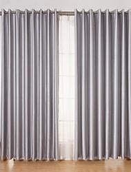 abordables -Dos Paneles Ventana Tratamiento Moderna , Sólido Sala de estar Poliéster Material cortinas cortinas Decoración hogareña For Ventana
