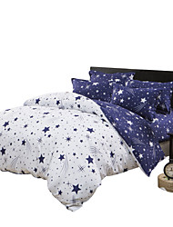 Mingjie Blue Stars Bedding Sets 4PCS for Twin Full QueenSize from China Contian 1 Duvet Cover 1 Flatsheet 2 Pillowcases