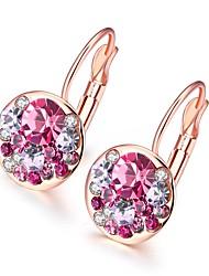 abordables -Femme Plaqué argent / Plaqué Or Rose Boucles d'oreille goujon / Boucles d'Oreille - Mode / Européen Rouge Rose / Bleu clair Forme de
